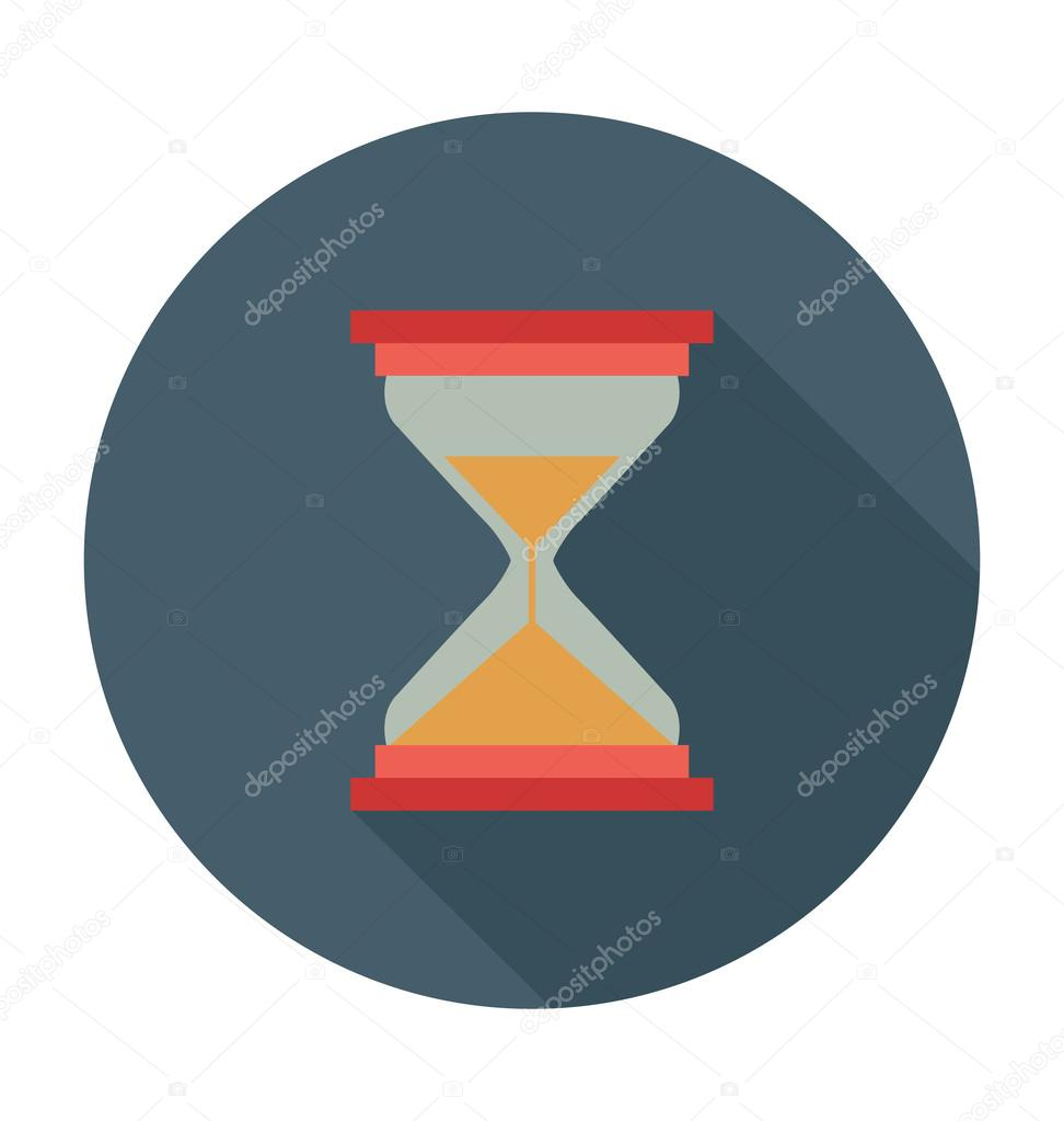 Hourglass Colored Vector Illustration