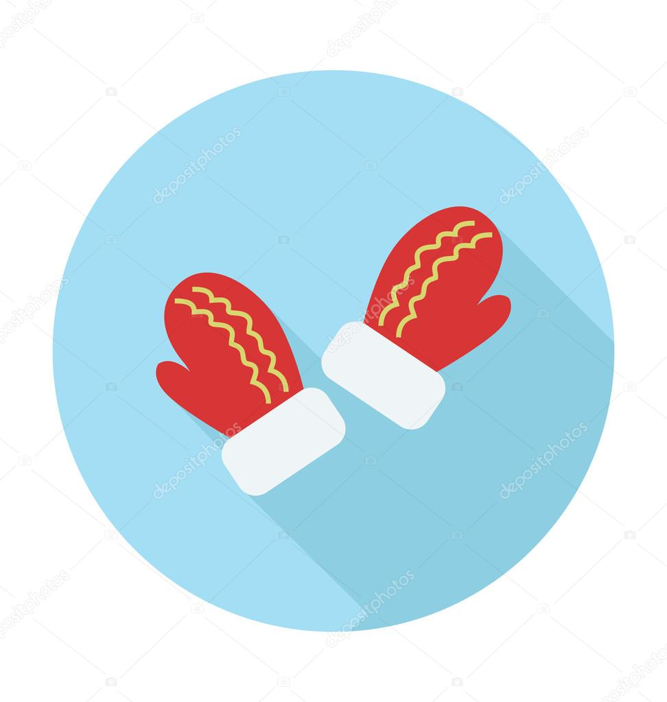 Gloves Colored Vector Icon