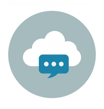 Cloud Chat Colored Vector Illustration