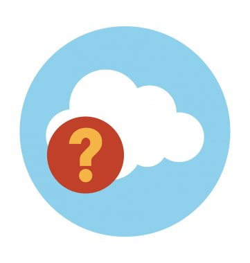 Cloud Help Colored Vector Illustration