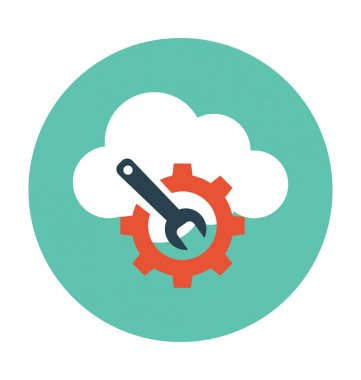 Cloud Maintenance Colored Vector Illustration