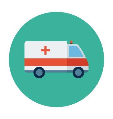 Ambulance Colored Vector Icon