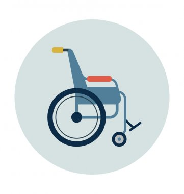Wheelchair Colored Vector Icon