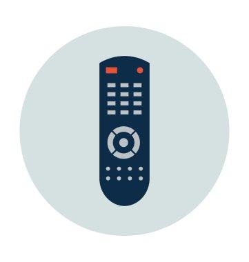 TV Remote Colored Vector Icon