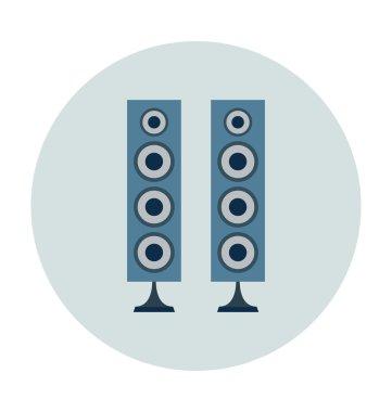 Speaker Colored Vector Icon