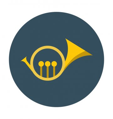 Trumpet Colored Vector Icon