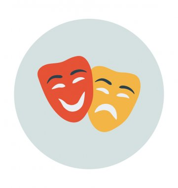 Mask Colored Vector Icon