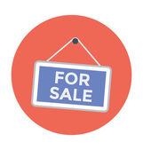 For Sale Sign Colored Illustration