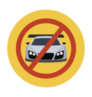 No Parking Colored Vector Illustration