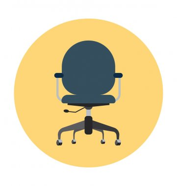 Swivel Chair Colored Vector Illustration