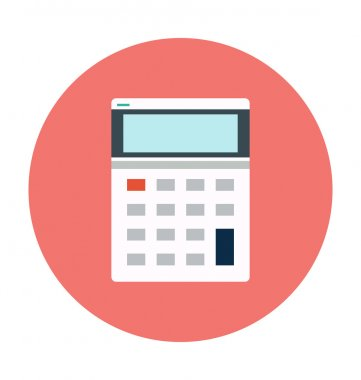 Calculator Colored Vector Icon