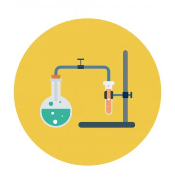 Science Research Colored Vector Icon