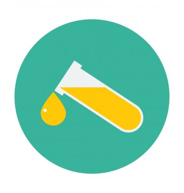 Test Tube Colored Vector Icon