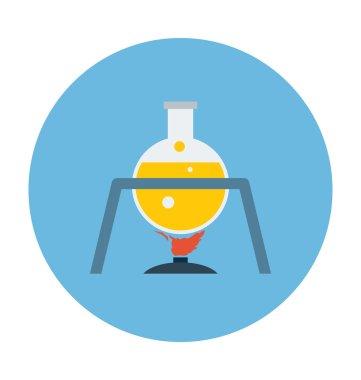 Science flat colored icon. clip art vector