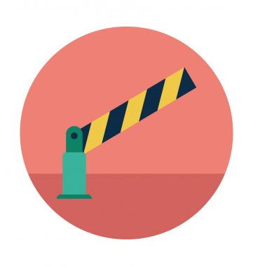 Road Barrier Colored Vector Illustration