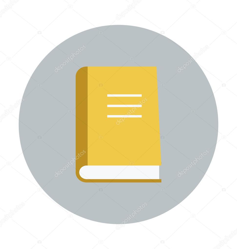 Livre Couleur Vector Icon Image Vectorielle Creativestall