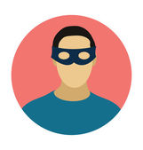Fotografie Superhero Colored Vector Illustration