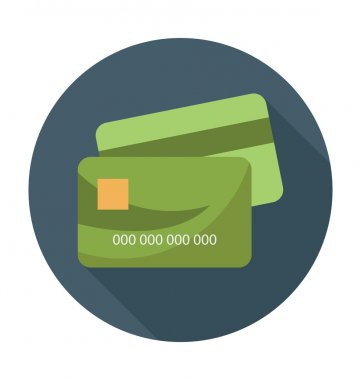 Credit Card Colored Vector Illustration