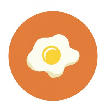 Fried Egg Colored Vector Icon