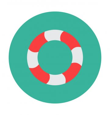 Life Ring Colored Vector Illustration