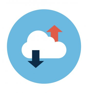 Cloud Sync Colored Vector Illustration