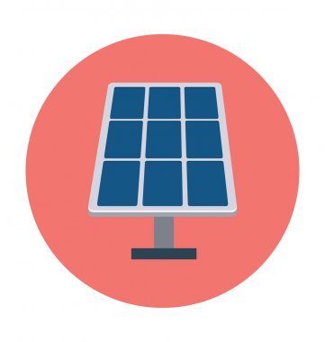 Solar Panel Colored Vector Illustration