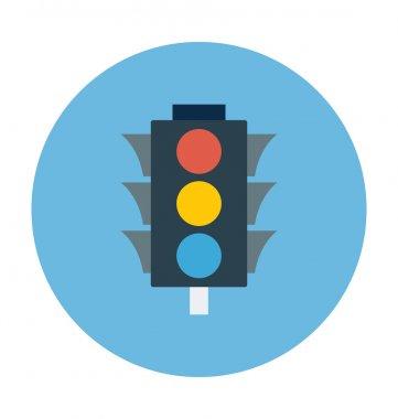 Traffic Lights Colored Vector Illustration