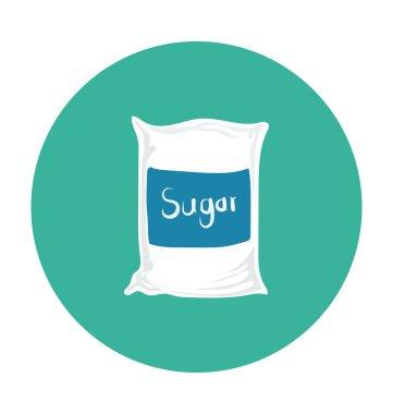 Sugar Bag Colored Vector Icon