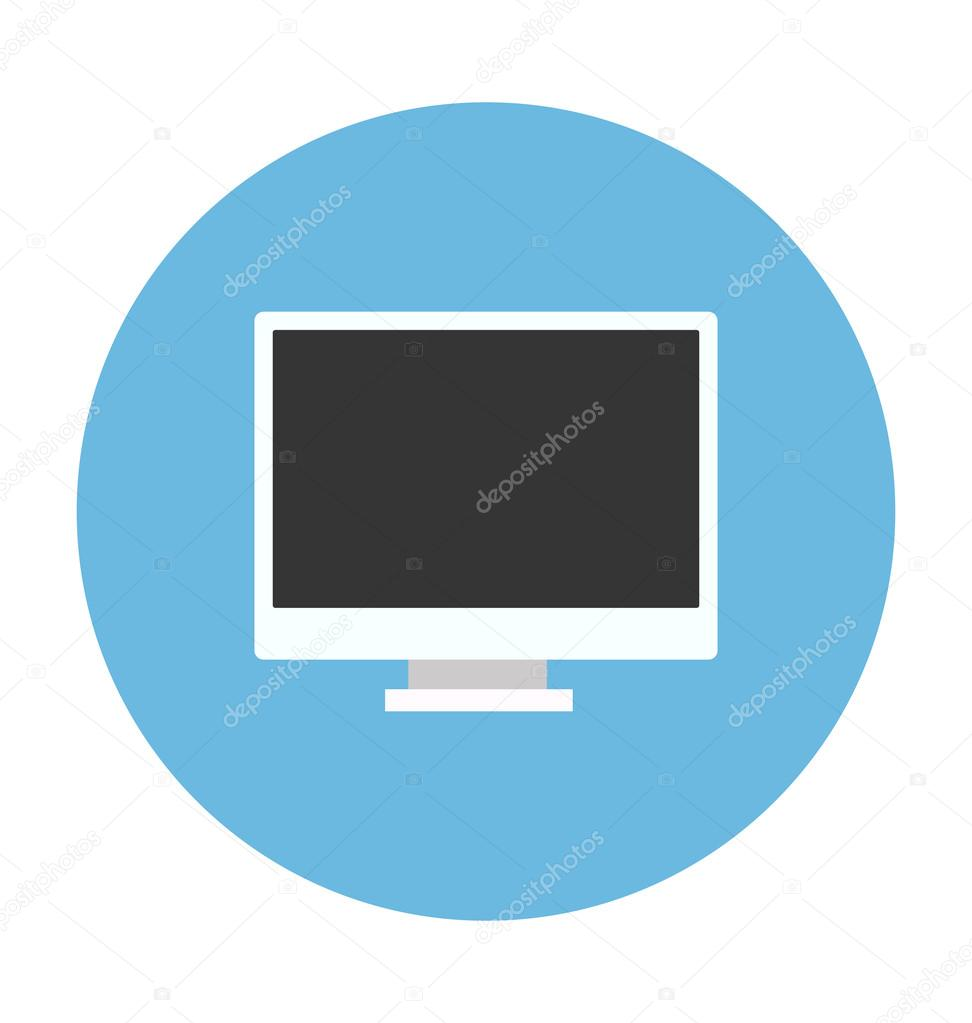 LCD Colored Vector Illustration