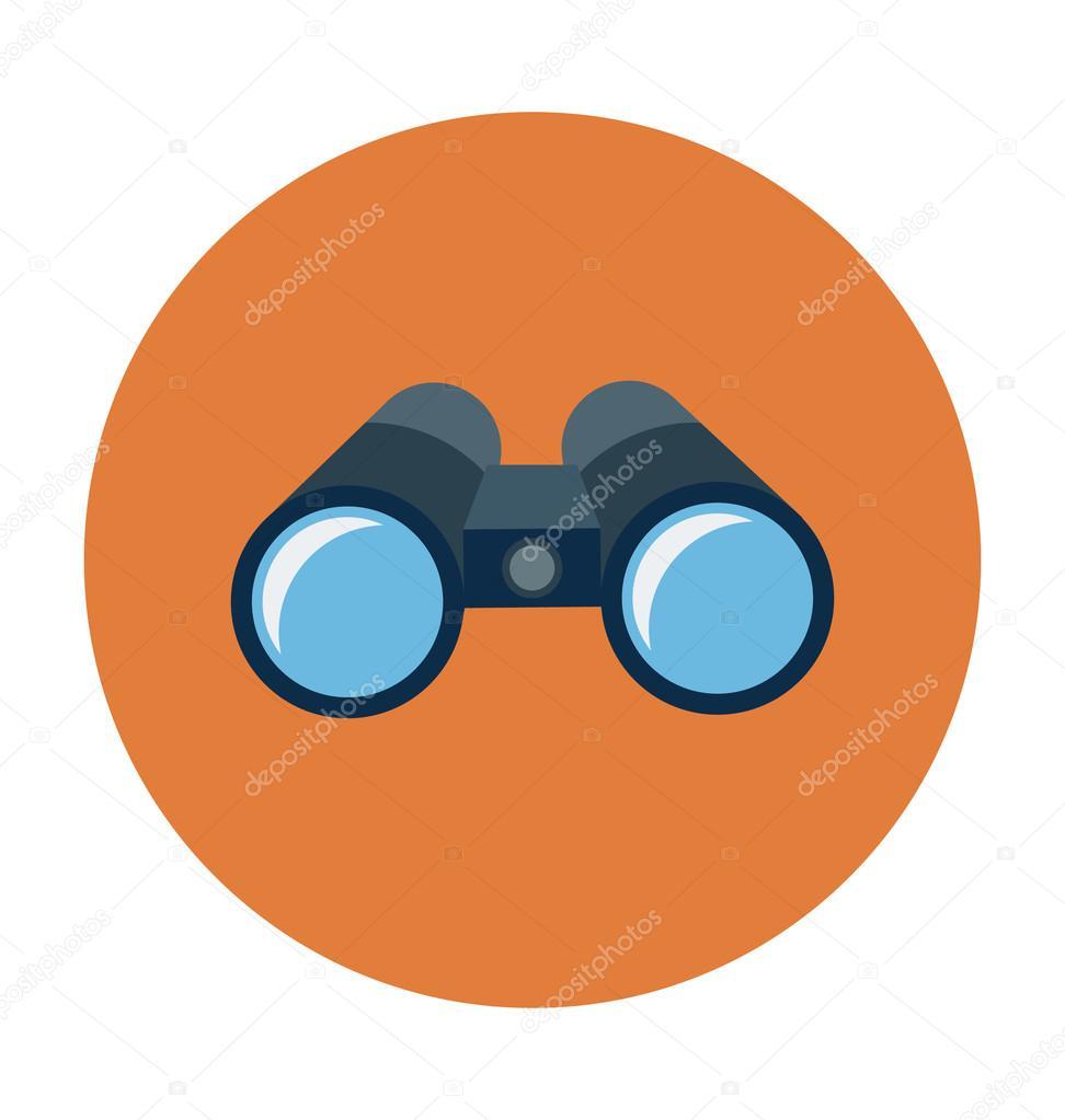 binocular colored vector illustration stock vector creativestall rh depositphotos com victor binoculars vector binoculars for sale