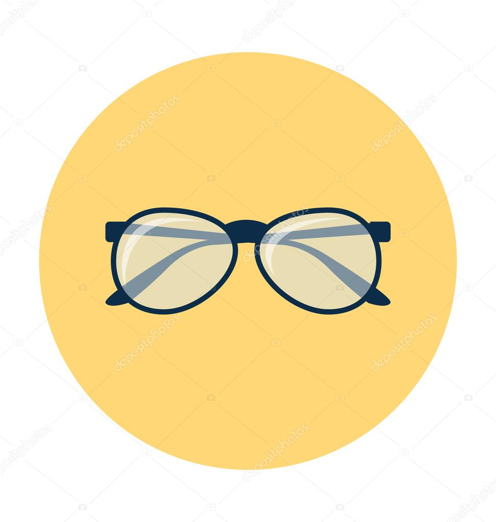 Spectacles Colored Vector Illustration