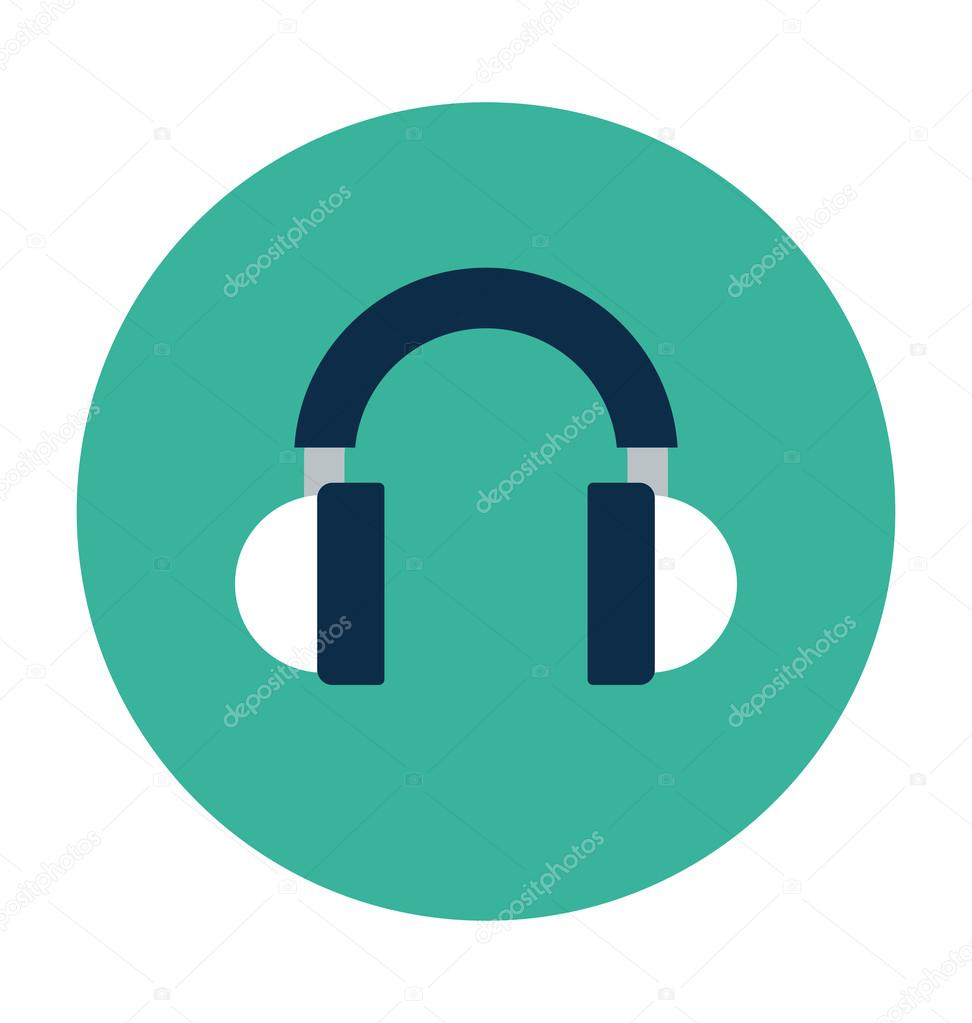 Headset Colored Vector Illustration