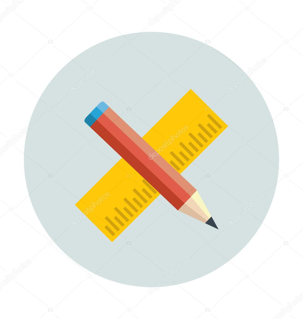 Drafting Colored Vector Illustration
