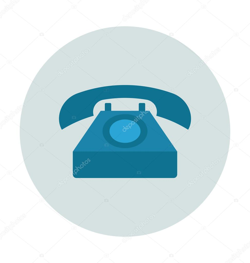 Telephone Colored Vector Illustration