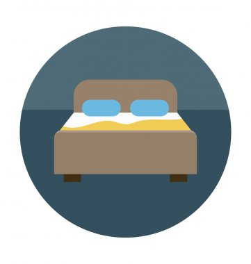 Bedroom Colored Vector Icon