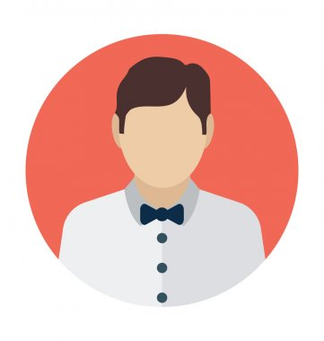 Waiter Colored Vector Icon
