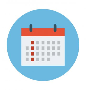 Calendar Colored Vector Icon