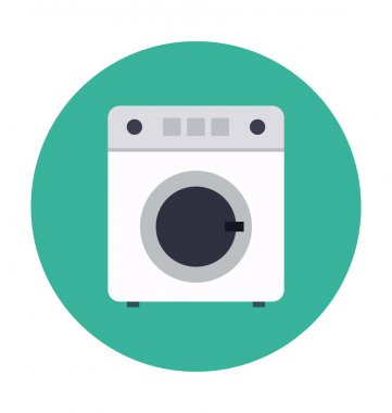 Washing Machine Colored Vector Icon