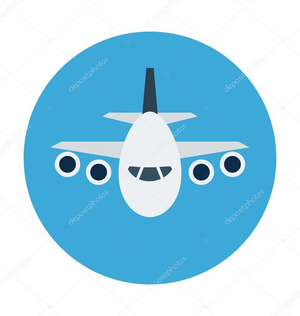 Avión color Vector icono — Archivo Imágenes Vectoriales ...