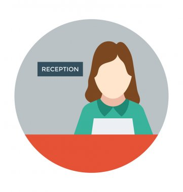Reception Colored Vector Icon