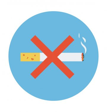 No Smoking Colored Vector Icon