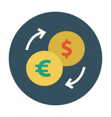Currency Exchange Colored Vector Icon