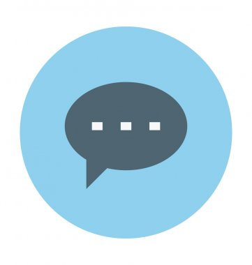 Chat Bubble Colored Vector Illustration