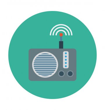 Radio Colored Vector Illustration