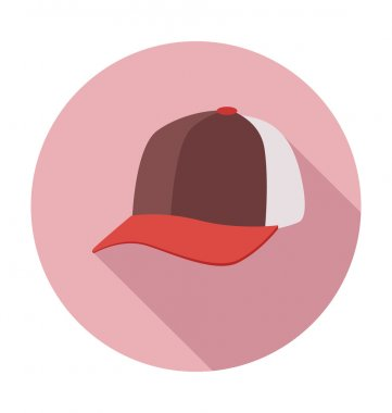 Baseball Cap Colored Vector Illustration