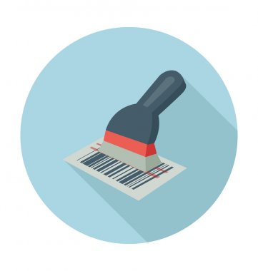 Barcode Scanner Colored Vector Illustration