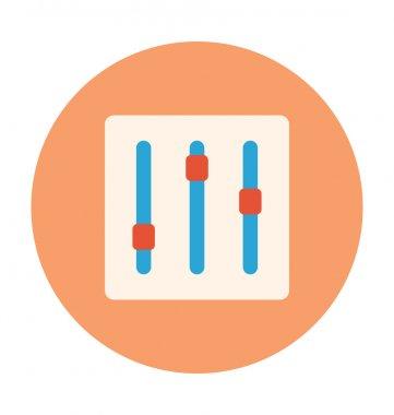 Equalizer Colored Vector Illustration