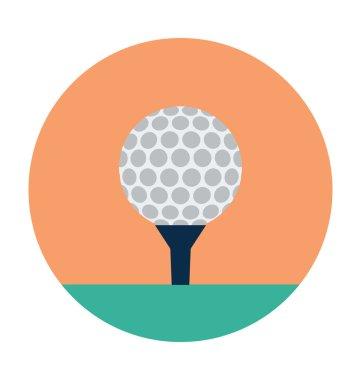 Golf Ball Colored Vector Icon