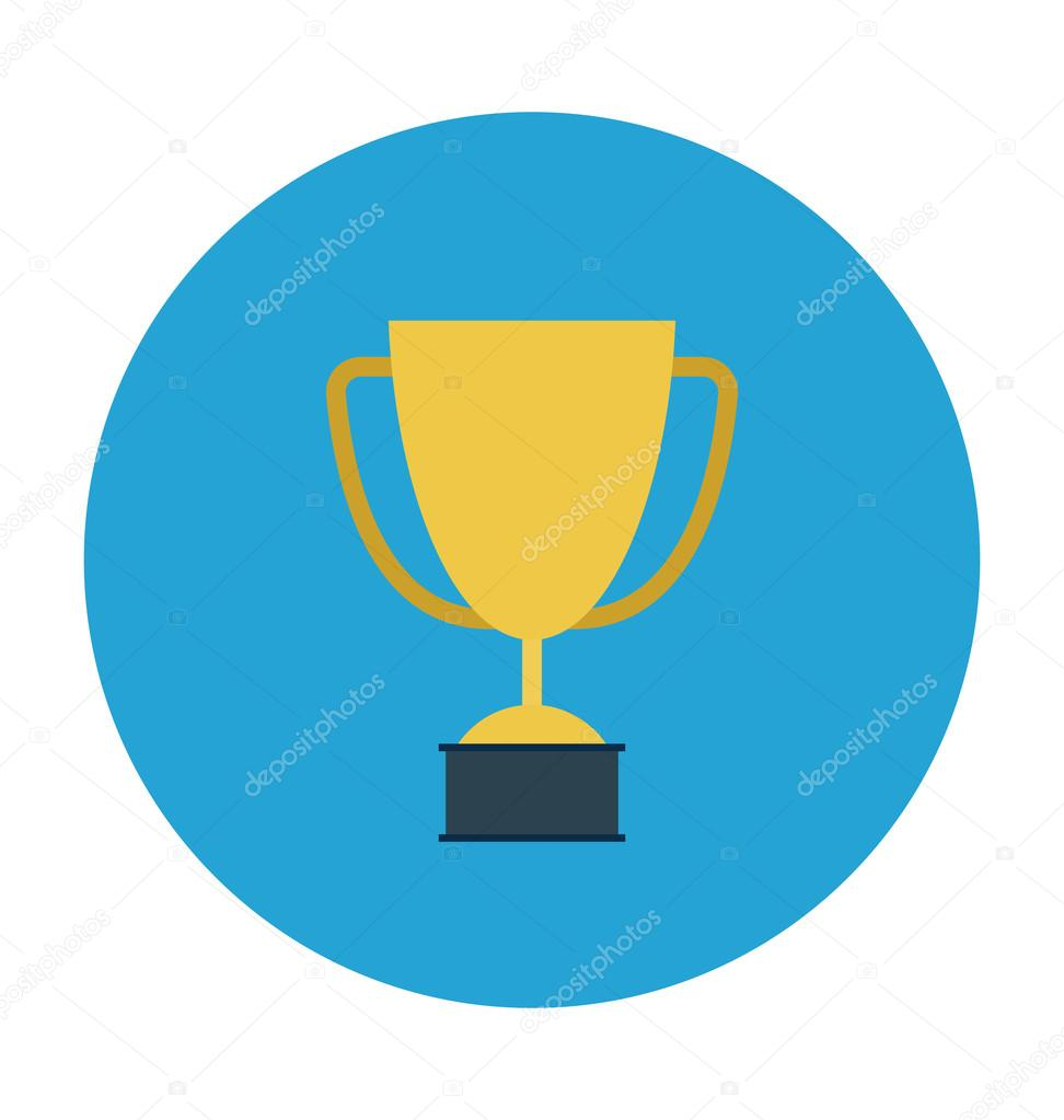Trophy Colored Vector Icon Stock