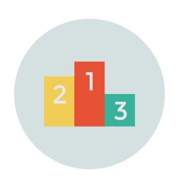 Podium Colored Vector Icon